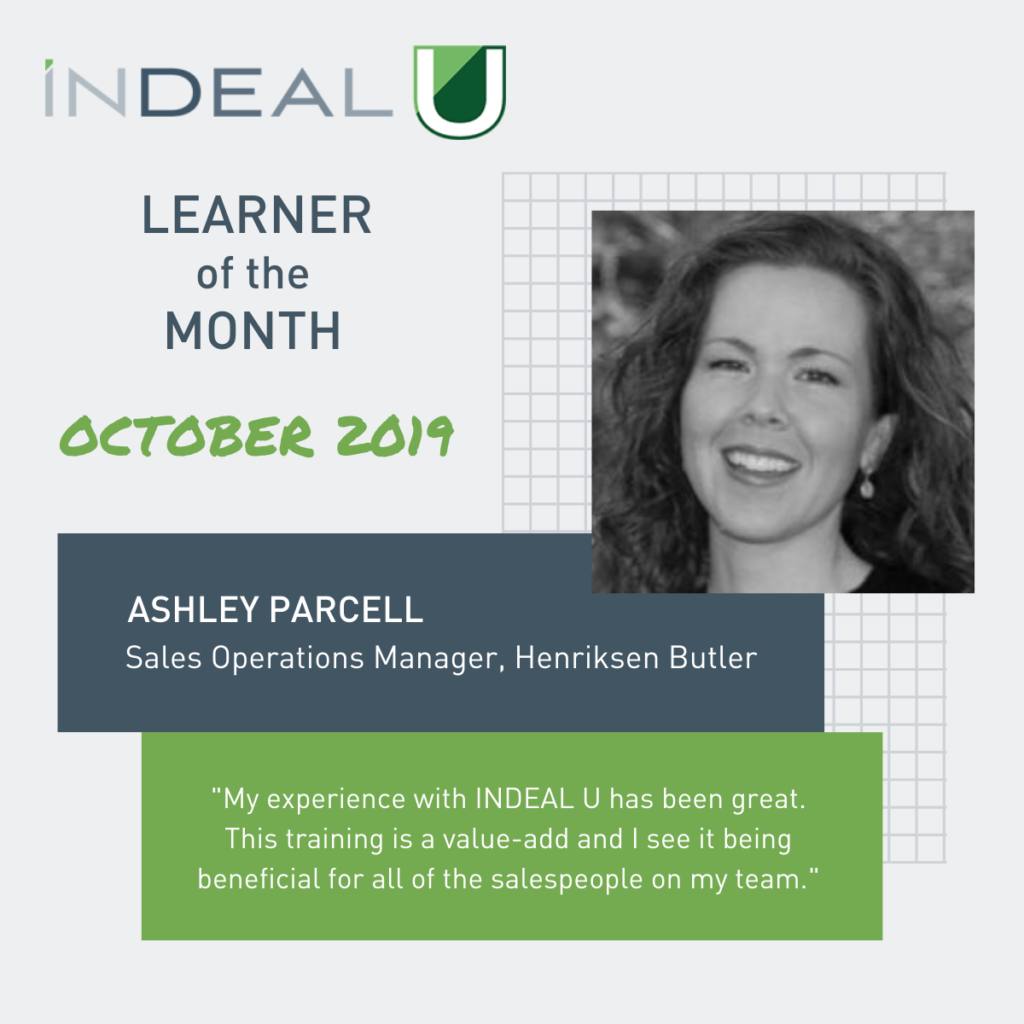 Here's a Treat – Our October Learner of the Month!