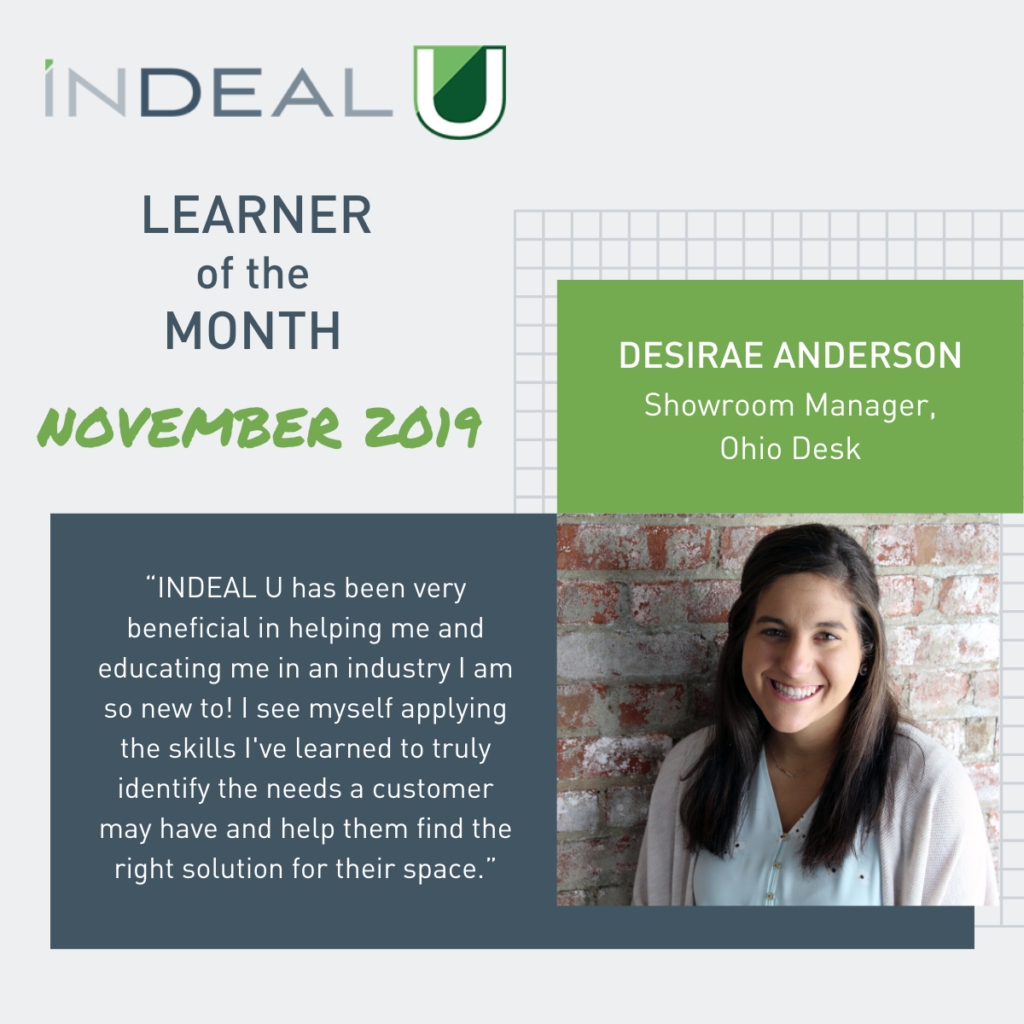 It's Time to Meet Our November Learner of the Month